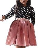 Minetom Fille 1 à 7 Ans Vetement Robe De Princesse Fille Chic Hiver Robe Fille Soirée Ete Pas Cher Robe Enfant Fille...