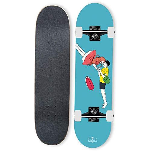Gnitoaim Complete skateboarding skateboard boys girls teen adults 31 inch professional skateboard beginner skateboard-Men and women 1