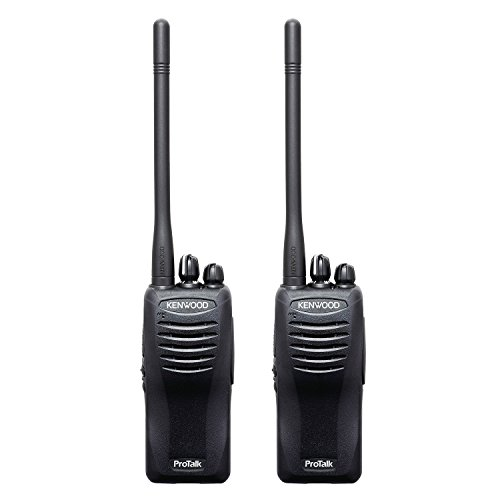 Kenwood TK-2402V16P ProTalk Compact 16 Channel VHF FM Portable Two-Way Radio (Pack of 2), 5 Watts Transmit Power, Pre-Set Frequencies 27 (151-159 MHz), Enhanced Audio Quality, Wireless Cloning