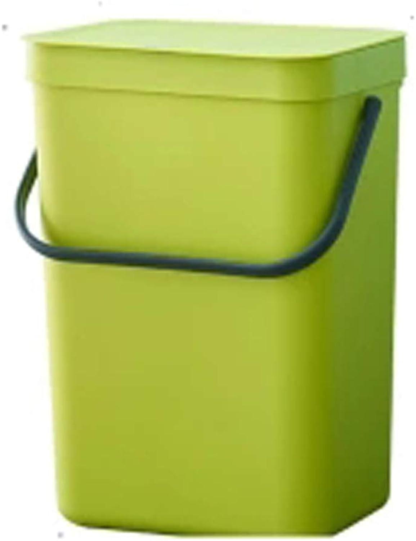 XJRHB Wand-Mülleimer mit Deckel Griff Kunststoff Badezimmer Badezimmer Küche kann hängen hängen Rechteckrohr (größe   12L) B07PR61JFG   Vollständige Spezifikation