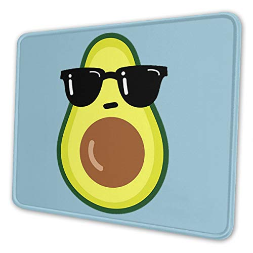 Gaming Mouse Pad - Cartoon Avocado Rectangle Rubber Mousepad - 7 X 8.6 in X 0.12''(3mm Thick) Mouse Mat for Gift Support Wired Wireless Or Bluetooth Mouse