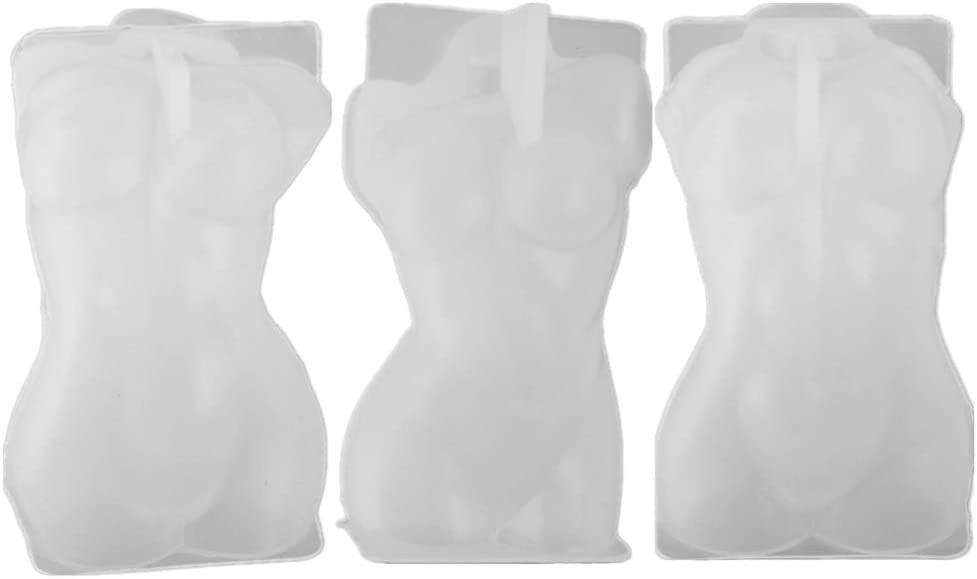 EXCEART 3 Pcs 3D Goddess Body Mold Silicone Model Special Campaign Shape Limited price sale Sta