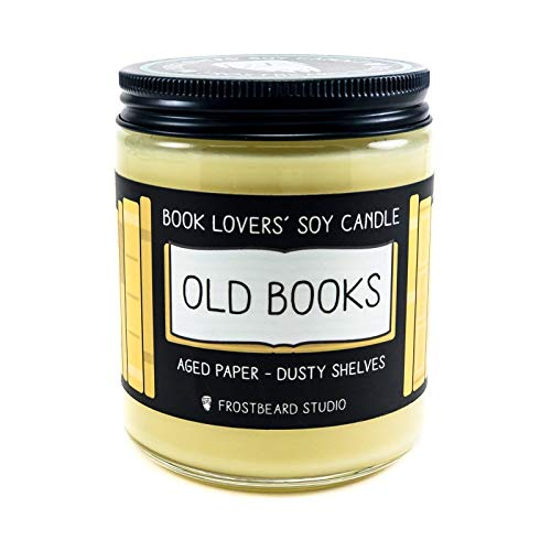 Old Books - Book Lovers' Soy Candle - 8oz Jar