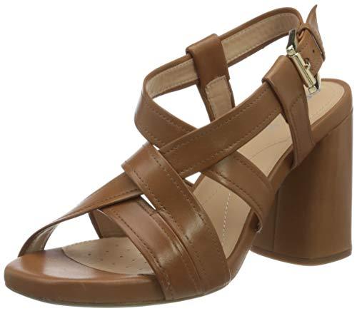 Geox D GENZIANA HIGH B dames open sandalen met sleehak
