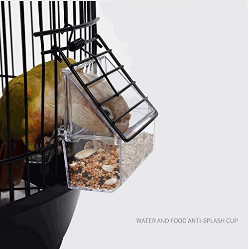 NYKK Jaulas para pájaros Cúpula Redonda clásico Pájaro Enjaulado Periquito Pájaro Salvaje Gorrión Pájaro Canario Pájaro Altura 74 cm (Negro) Pajarera para Pájaro