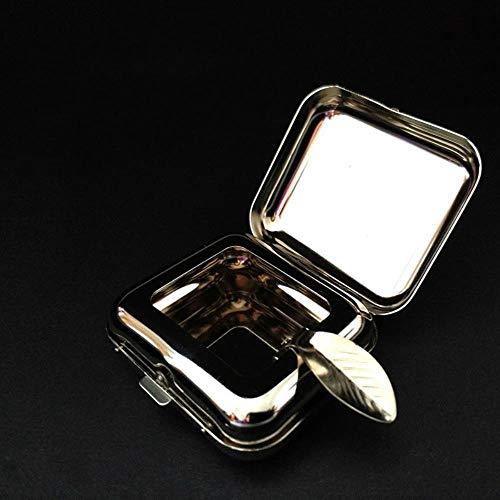 Taschenaschenbecher Edelstahl Quadrat Taschenaschenbecher Metall Aschenbecher Taschenaschenbecher Mit Deckel Tragbarer Aschenbecher