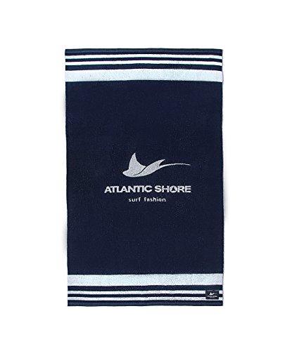 Atlantic Shore | Surf Fashion  Beach Towel/Telo Mare in Cotone di Alta Qualità  Logo (160x 90cm)