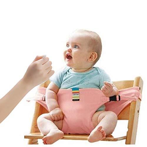 Lychee Bambino Seggiolone Coprisedile Viaggio Imbracatura di Sicurezza Portatile Infantile Sacco Cintura (Rosa)