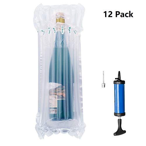 Anti-schock Glass Bottles packaging bags , MonoDeal 12pcs gonfiabile Imballaggio bolla protettiva imballaggio Wrap sacchetto per bottiglia di vino