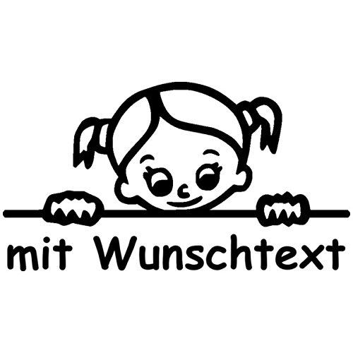 XL Babyaufkleber mit Name/Wunschtext - Motiv 706 (25 cm)