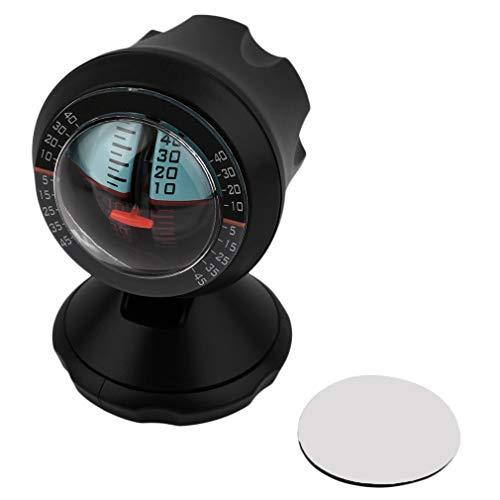 Hanone Balanceador del buscador del medidor de Nivel de la Pendiente del ángulo para la Seguridad del inclinómetro del vehículo del Coche Negro