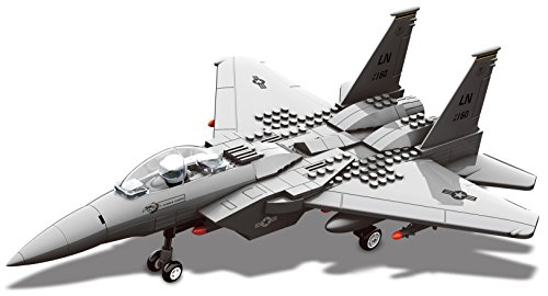Top Race Enclavamiento del edificio F15 Fighter Jet Modelo d
