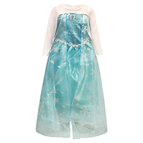 Live It Style It Prinzessin Kostüm ELSA Mädchen Schnee Anna Königin (9-10 Jahre, ELSA Kleid)