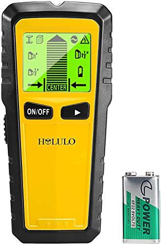 HOLULO 5-in-1 Detector de Pared,Stud Finder con 5-in-1 Metal AC Alambres Escáner...