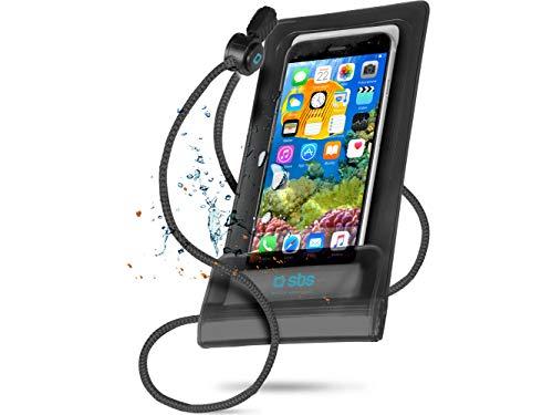 SBS Custodia impermeabile per smartphone fino a 5,5 pollici con laccetto da collo,...
