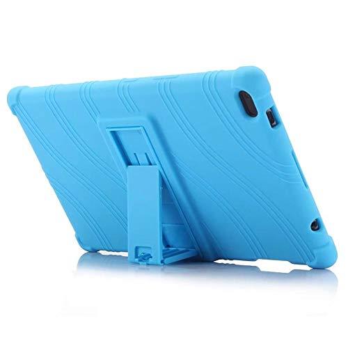 Funda de silicona para tablet Lenovo Tab4 Tab 4 8' TB-8504 TB-8504 N/X/F Funda-Sky azul