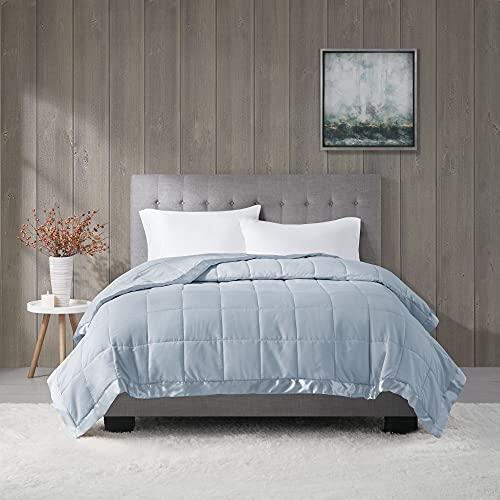 Madison Park Down Alternative Blanket Hypoallergenic 3M Scotchgard Stain Resistant Bedroom Bedding, Standardsized Full/Queen, Windom Blue