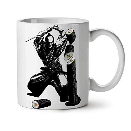 N\A Taza de Viaje Sushi Katana Fight Novetly Mug Coffee Cup