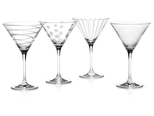 CREATIVE TOPS Mikasa Cheers Juego de Vasos de cóctel Martini de Cristal, Juego de 4