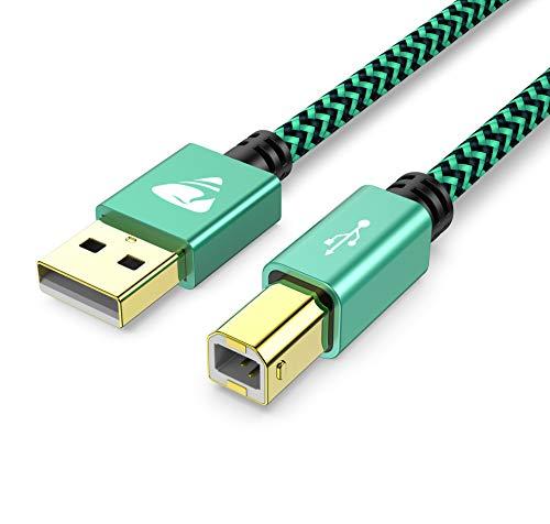 USB Druckerkabel, USB Drucker Kabel PC USB A auf USB B 2.0 DruckerKabel 1M Typ B Printer Kabel Scanner Kabel Kompatibel für HP, Epson, Canon, Brother, Lexmark, Xerox, Samsung, Dell
