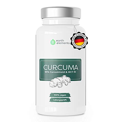 Curcuma (Kurkuma) Extrakt - 80% höhere Verfügbarkeit wie Piperin, 95% Curcumin (entspricht ca. 15.000mg Kurkuma) pro Kapsel, Deutsche Premium Qualität, Laborgepüft & Vegan (1 Monat Kur)