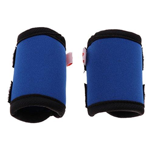 LOVIVER 2Pcs Hunde Kniebandage Knieschutz Bandage für Vorderbein oder Hinterbein, Größe wählbar - Blau M
