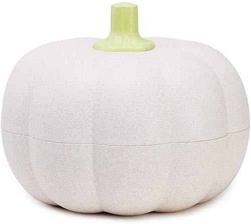 Met Love Frutero con diseño de calabaza, cesta creativa para el hogar, sala de estar, plástico, para caramelos, aperitivos, frutas, cesta de almacenamiento doble (color: blanco)