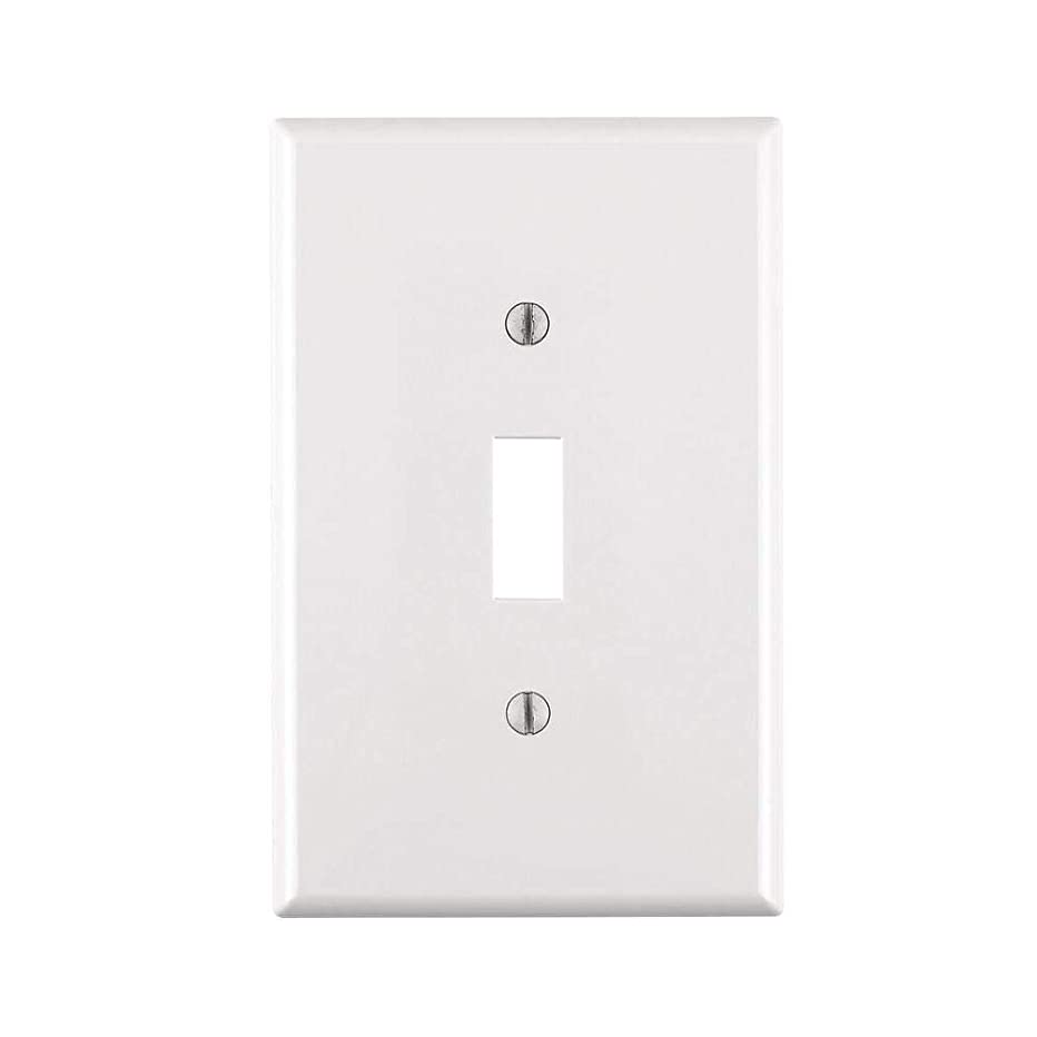 24 Single Wall Switch Plate's 1 Gang Toggle Standard Size White for Single Wall Switches Screws Included UL Listed WHOLESALE BULK LOT