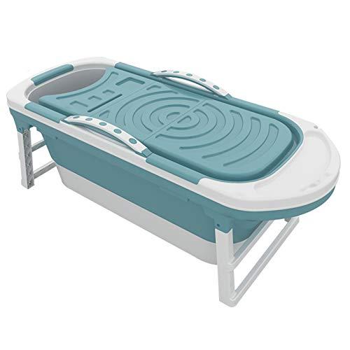 Bañera portátil, bañera Plegable para Adultos, baño Familiar, SPA Familiar, Piscina Independiente, fácil de Instalar y drenar, Ideal para Sauna baño de Vapor para baño de bañera Adulta,Azul