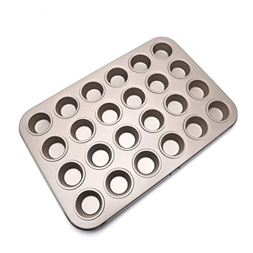 Golden Mini 24 Cup Non-stick Cake Mold Muffin Cup Baking Pan Baking Tools (Size: 14.9 inches lengthy x 10.2 inches broad x 0.9 inches excessive)
