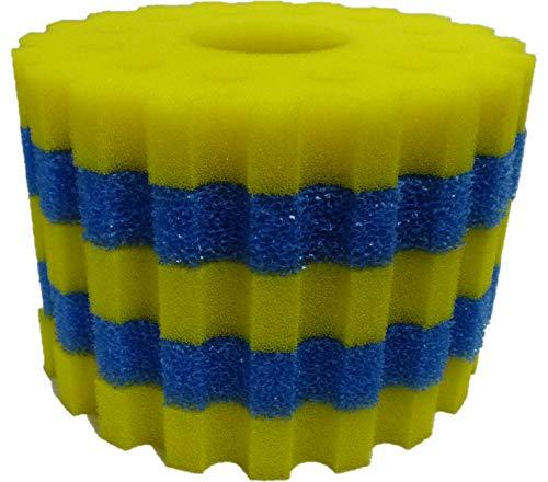 Steppan 1 Set Schwammfilter für SunSun CPF 20000 Druckfilter. Das Set besteht aus 2 x Filterschwamm blau grob + 3 x Filterschwamm gelb feinporig. Durchm. ca. 360 mm - Höhe ca. 50 mm pro Matte.