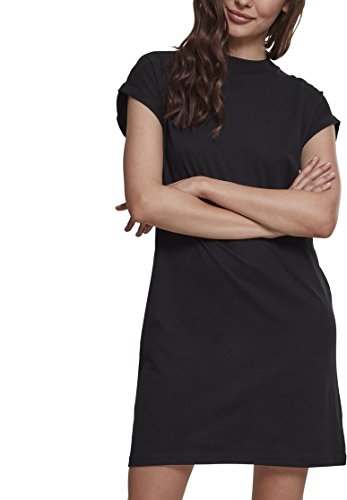Urban Classics Ladies Turtel Extended Shoulder Dress Vestido, Negro, L para Mujer