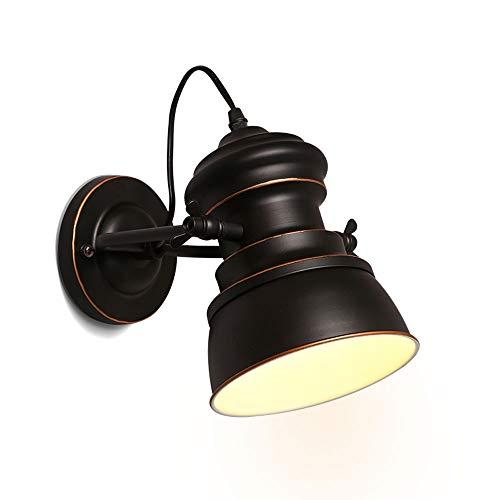 Lámpara de pared retro, luz decorativa de la lámpara de pared del desván industrial del ático de la luz de la pared del ático del hierro labrado