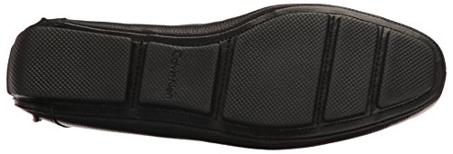 Calvin Klein Men's Magnus Tumbled Leather Slip-on Loafer, Black, 9.5 M US
