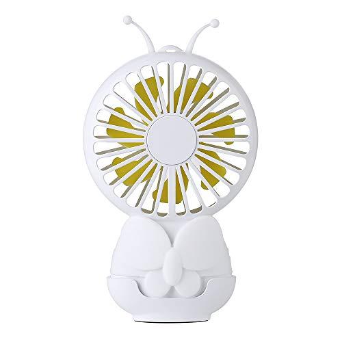 fghrgh Luce Notturna,Lampada Mini Ventilatore per Bambini Portatile Esterno USB Carica Studente Dormitorio Atmosfera Lampada Ventilatore Elettrico Dormitorio per Studenti A1394