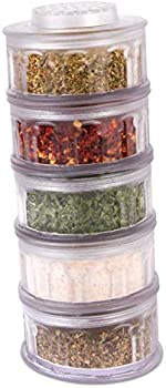 Perfect Life Ideas 5-Pieces Refillable Spice Containers