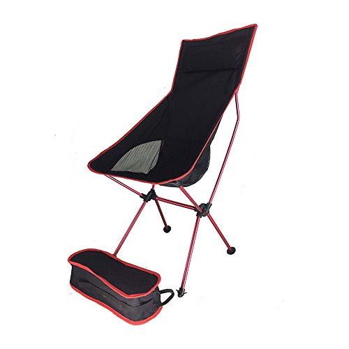 WPCBAA Outdoor ultralichte aluminium klapstoel draagbare verhoging ruimte stoel rugleuning vissen schetsen vrije tijd ademende stoel