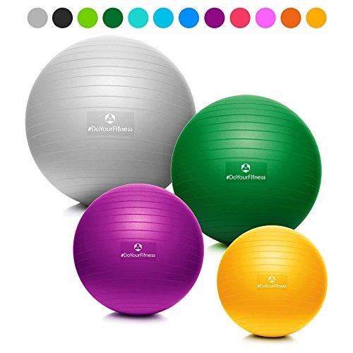 #DoYourFitness x World Fitness Gymnastikball inkl. GRATIS Trainingsplan (PDF) & Luftpumpe | 55cm 65cm 75cm o. 85cm | 100{19247bdfc0fea1a8e6f9b71137d05ab854aeae4a6c1627b3774d768579e37b81} Berstsicher - 150kg Belastbarkeit - robuster Sitzball Fitnessball 75cm rot