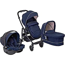 Complete graco evo trio package designed for busy parents - has everything you need to start with your born. Suitable from birth to 15 kg (approx. 3 years) Reversible pushchair seat unit with three recline positions to lie-flat Adjustable handle and ...