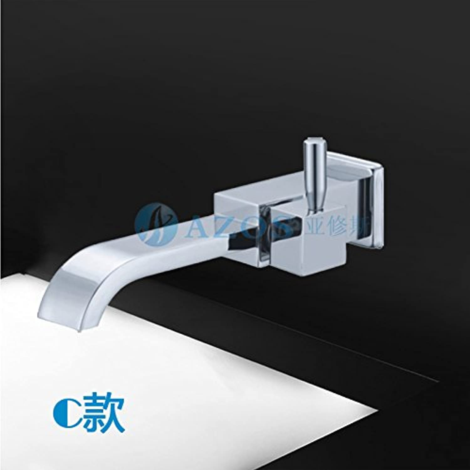 SADASD bathroom sink faucet Modern Upscale Boutique Brass Tap?The Wall Around The Copper Hot and Cold Basin Waterfall Faucet