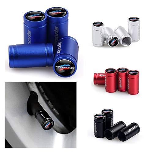 Tapa de válvula de neumático de coche, 4 piezas, cubierta de aire compatible con BMW X1 X3 X4 X5 X6 X7 E46 E90 F20 E60 E39 F10 Accesorios de coche Neumáticos Accesorios