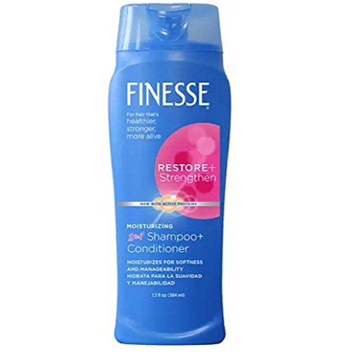 Finesse 2 in 1 Moisturizing Shampoo and Conditioner 13 oz. (Pack of 6)