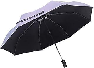 Umbrella Windproof Umbrella Folding Fully Automatic Sun Protection UV Protection Female Dual Use (Size : E)