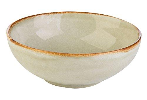 Müslischale Dessertschale Salatschüssel | Steinzeug | Sandfarben | Ø 16,5 cm