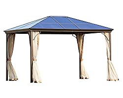Suncrown Hardtop Gazebo for Outdoors with Mosquito Nets