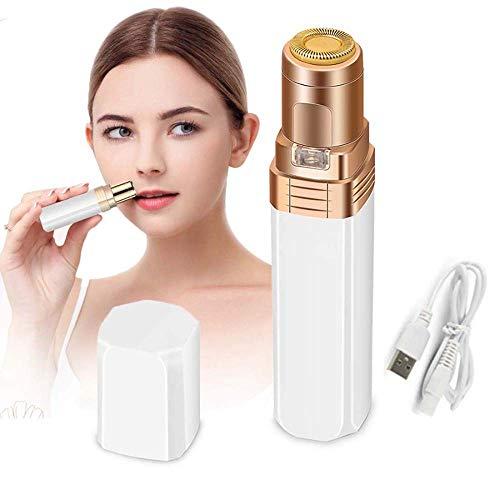 Depilación facial for las mujeres, sin dolor sin defectos Hair Remover con una función de luz LED portátil, la maquinilla de afeitar eléctrica de la cara de corte de pelo, Señoras impermeables máquina