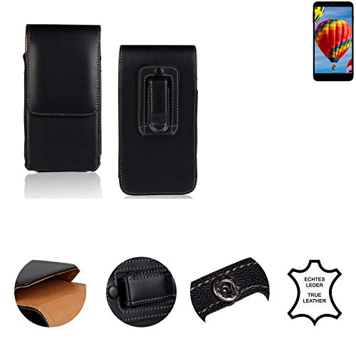 K-S-Trade® Holster Gürtel Tasche Für Vestel V3 5030 Handy Hülle Leder Schwarz, 1x
