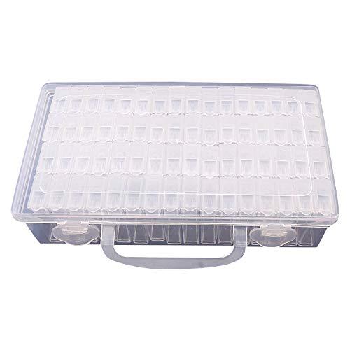 WOVELOT 64 Celosías Caja de Almacenamiento de Plástico Ajustable Caja de Almacenamiento...