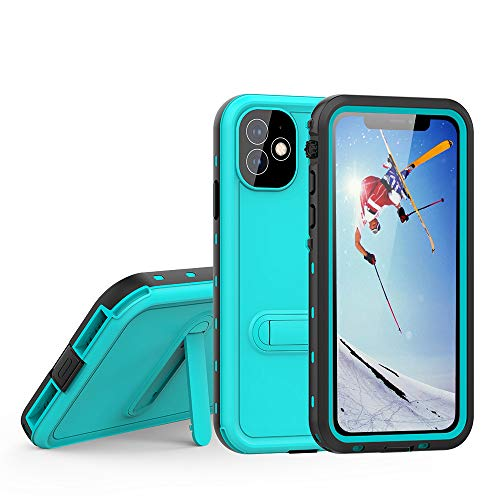"""TIPICOOL iPhone 11 Waterproof Case, with Stand IP68 Certified Waterproof Shockproof Dropproof Full-Body Rugged Protective Case with Built-in Screen Protector for iPhone 11(6.1""""-Blue)"""