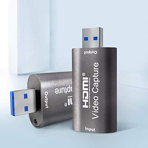 Schede di acquisizione audio video, scheda di acquisizione video HDMI Full HD 1080p USB 2.0 Registrazione tramite videocamera DSLR Action Cam, Supporto Broadcast Live Streaming